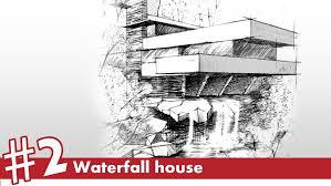architectural drawings of famous buildings. Home Decor Large-size Waterfall House Perspective Drawing 2 Famous Architecture Youtube. Architectural Drawings Of Buildings