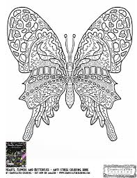 Coloring Pages Of Butterflies And Heartsl L