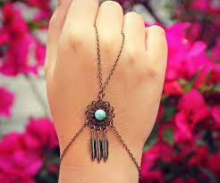 Dream Catcher Bracelet Ring Dream catcher slave bracelet dream catcher hand chain bracelet 1