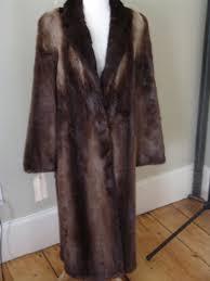 river otter fur coat goldin feldman long sz m