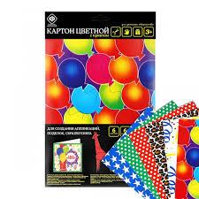 <b>Фабрика фантазий Картон</b> цветной с многоцветной печатью А4 ...