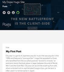 Go Blog with Hugo, the Static Site Generator | Jscrambler Blog