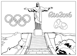 Free Coloring Page Coloring Adult Rio 2016 Olympic Games Christ The