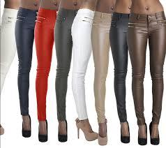 aliexpress com new elastic leather pants zipper solid leggings skinny women full length trousers plus size for women las feminino from reliable
