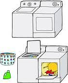 washer and dryer clipart. available as a print washer and dryer clipart