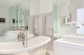 spacious all white bathroom. Architecture, Modern Bathroom Design With White Color Interior Decorating Ideas For Small Spaces Plus Towel Spacious All R