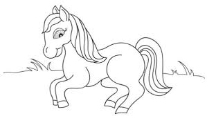 Small Picture Printable 40 Preschool Coloring Pages Spring 8112 Horse Animal