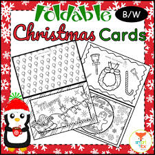 Here is a collection of printable christmas cards to colour, perfect for that special someone in your child's life. Printable Christmas Cards To Color Worksheets Tpt