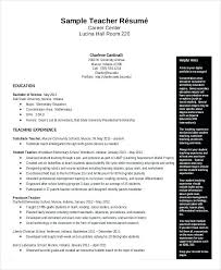 Kindergarten Teacher Resume Sample Teacher Resume Sample In ...