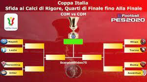 PES 2020 • Coppa Italia Sfida ai Calci di Rigore, Quarti di Finale fino  Alla Finale (COM vs COM) - YouTube