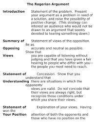 rogerian essay example rogerian argument com