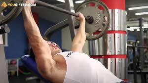 Упражнения для <b>груди</b>. <b>Жим</b> штанги лежа. - YouTube