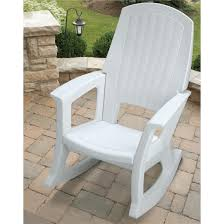 semco plastics 600 lb capacity white resin outdoor patio rocking chair semw