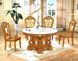 marble top dining table round set to