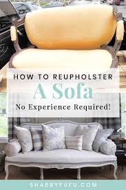 how to easily upholster a sofa and