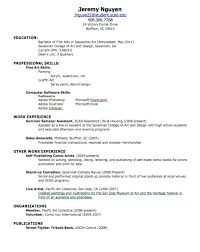 Sample Of Resume For Summer Job Resume For First Job Examples Resume