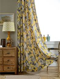 Printed Curtains Living Room Yellow Print Curtains Promotion Shop For Promotional Yellow Print