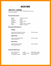 Resume Character References Therpgmovie