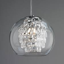 bulb oval drum ribbed glass shade pendant lighting crystal