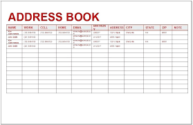 Printable Address Book Template Excel Address Book Excel Template Download By Simple Phone Book Template