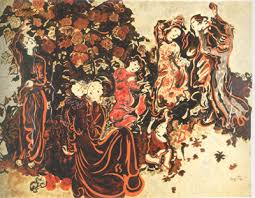 Image result for tranh thieu nu