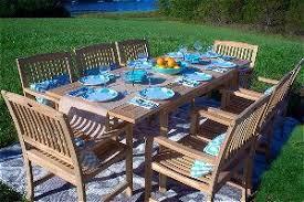 teak patio set. Pebble Lane 9 Piece Teak Dining Set Patio
