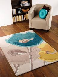 teal and yellow area rug designs