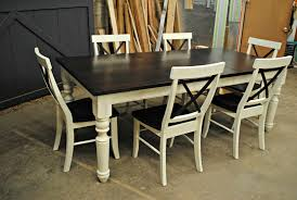 White Distressed Kitchen Table Custom Dining Table I The Common Table