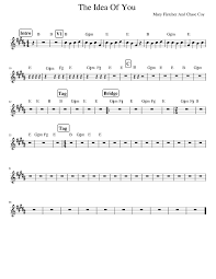 Voice Chart Pdf The Idea Of You Original Chart Sheet Music For Voice