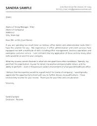 Cover Letter Sample Administrative Admin Cover Letters Office