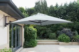 norfolk leisure 2m square wall mounted cantilever parasol in grey