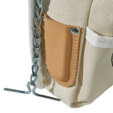 klein tools 5125 5 pockets tool pouch no 4 canvas with leather back 7