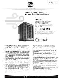 Rheem Prestige Series Variable Speed Air Conditioners