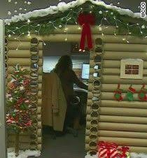 holiday decorations for the office. one woman took her companyu0027s holiday cubicle decorating contest to the next level with custom decorations for office
