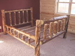 Log Queen Bed Frame Log Queen Bed Frame Simple Queen Size Bed Frame ...