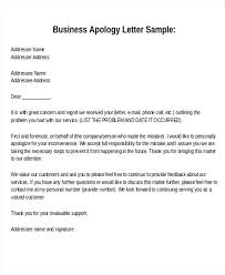 Letter Of Personal Apology Extraordinary Business Regret Letter Sample Formal Business Apology Letter Format