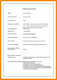Sample Resume Best Matrimonial Biodata Samples Save Certificate