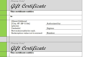 excel gift certificate template gift certificate template word free