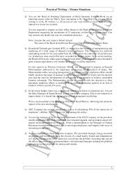 Business Memorandum Examples 03 Practical Writing Questions Memos