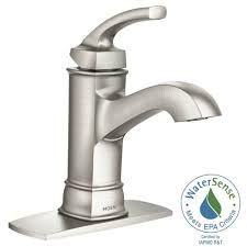 Bathroom Faucet Moen Hensley Single Hole 1 Handle Bathroom Faucet Featuring