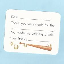 Baseball Thank You Cards Fill In The Blank Cards Baseball Etsy
