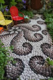 How To Make A Miniature Garden Path  Beneath The FernsMosaic Garden Path