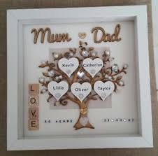 image is loading personalised handmade pearl 30th wedding anniversary gift frame