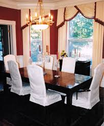 dining room chandelier brass. Rich Garnet Red Wall Paint, Cream Damask With Hassle Trim Drapery, Dining Room Chandelier Brass O