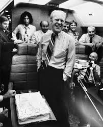 President Gerald R. Ford, Jack Ford, Joe Garagiola, Bob Barrett, and Others  Aboard Air Force One on a Return Flight from Pennsylvania - U.S. National  Archives Public Domain Image