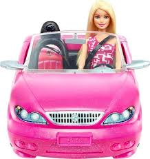 barbie doll. Mattel - Barbie Doll And Glam Convertible Car Pink