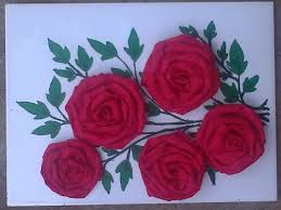 Rose Flower With Paper Crepe Paper Rose Flower Tutorial 10