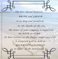 Wedding Invitation Love Quotes Adorable Beach Themed Wedding Invitations Free Wording Samples