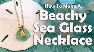how to make a beachy sea gl necklace
