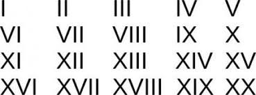 Roman Numeration System And Common Numerals Roman Numeral
